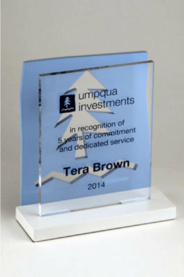 Umpqua Bank Years of Service Award