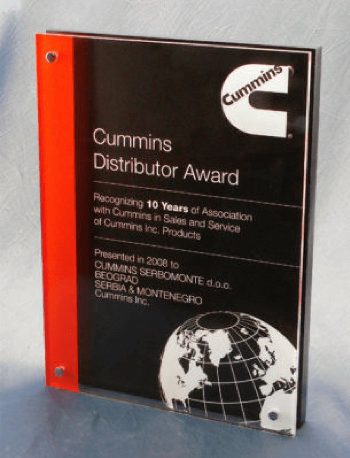 Cummins Distributor Years of Service Award