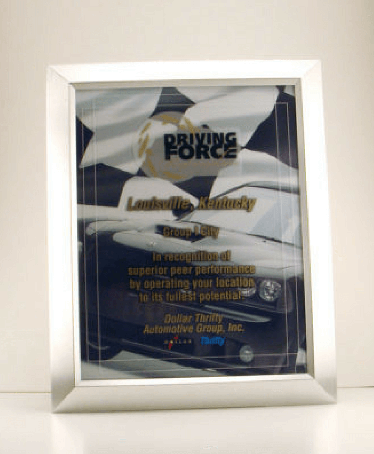 Dollar Thrifty Driving Force Plaque