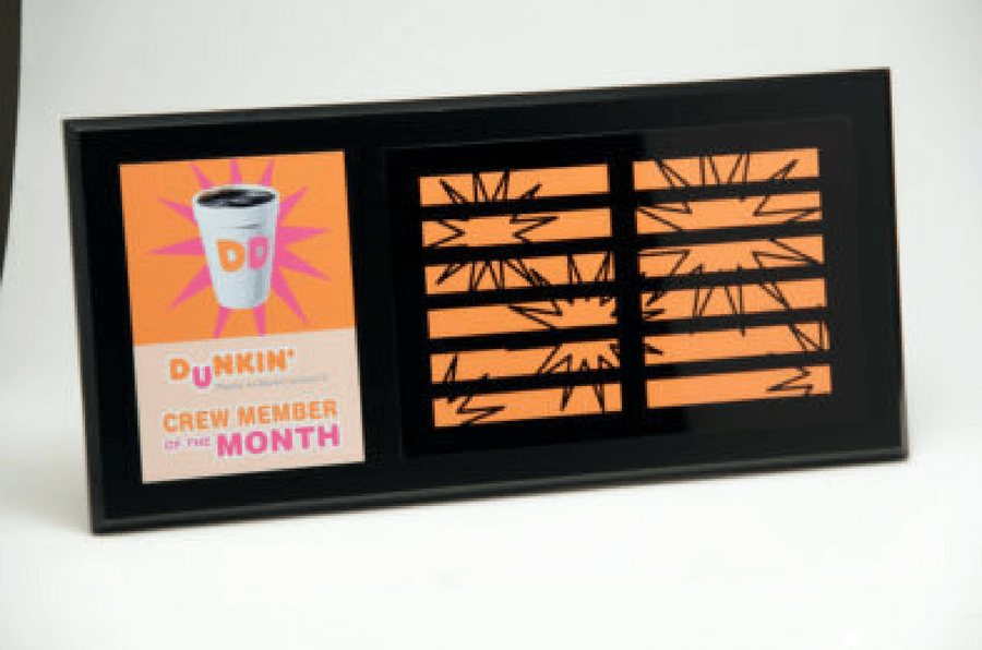 Dunkin' Donuts Crew Member of the Month Plaque