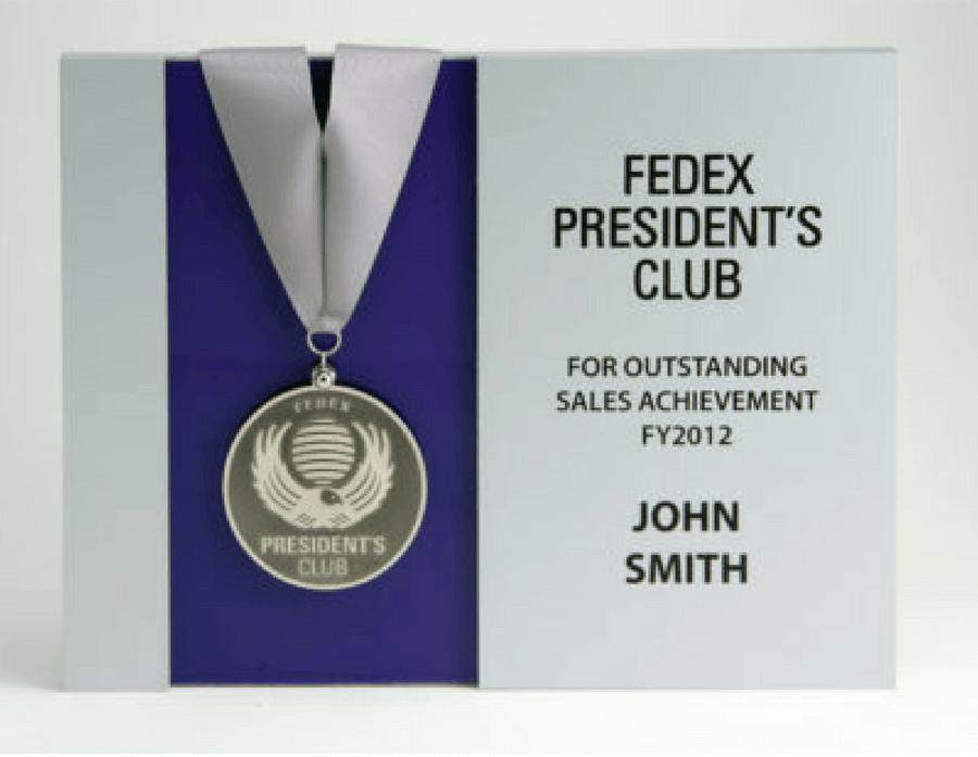 FedEx President's Club Plaque