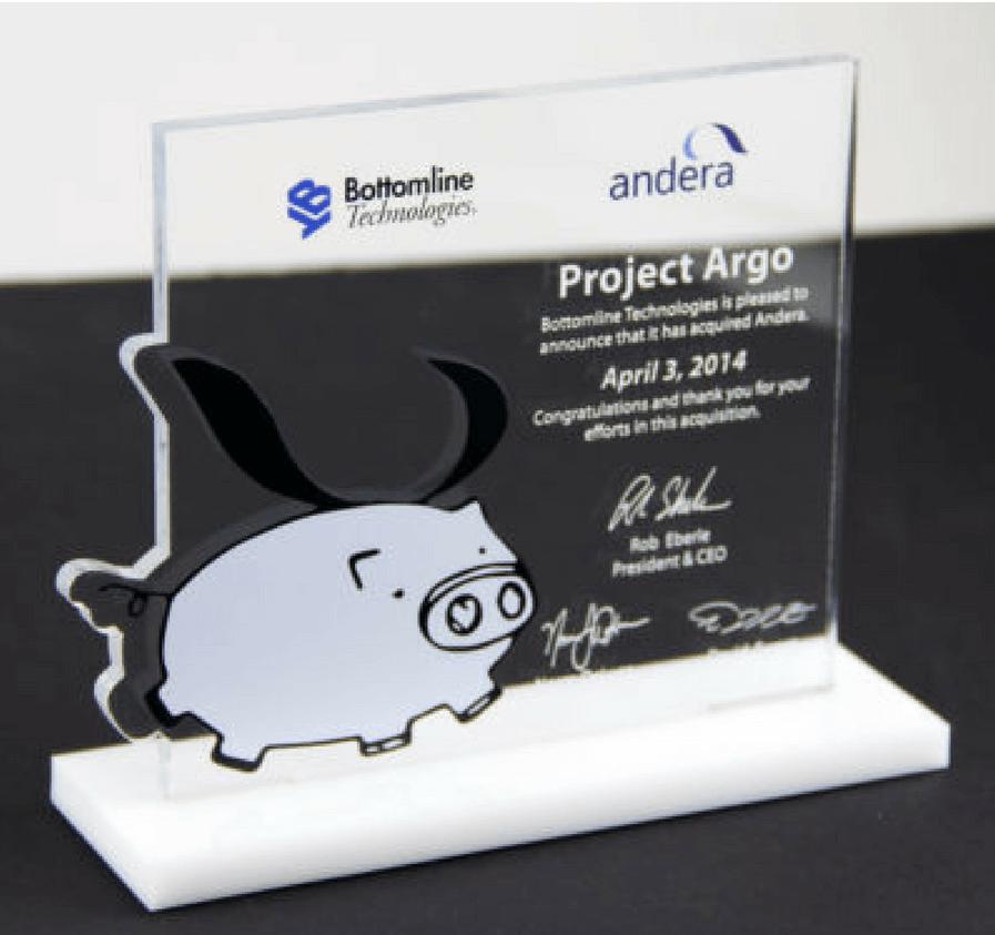 Bottomline Technologies Commemorative Award