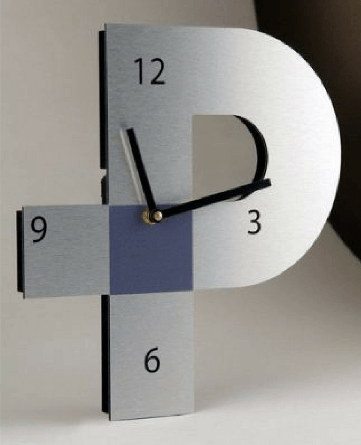 Profile Industrial Packaging Logo Clock