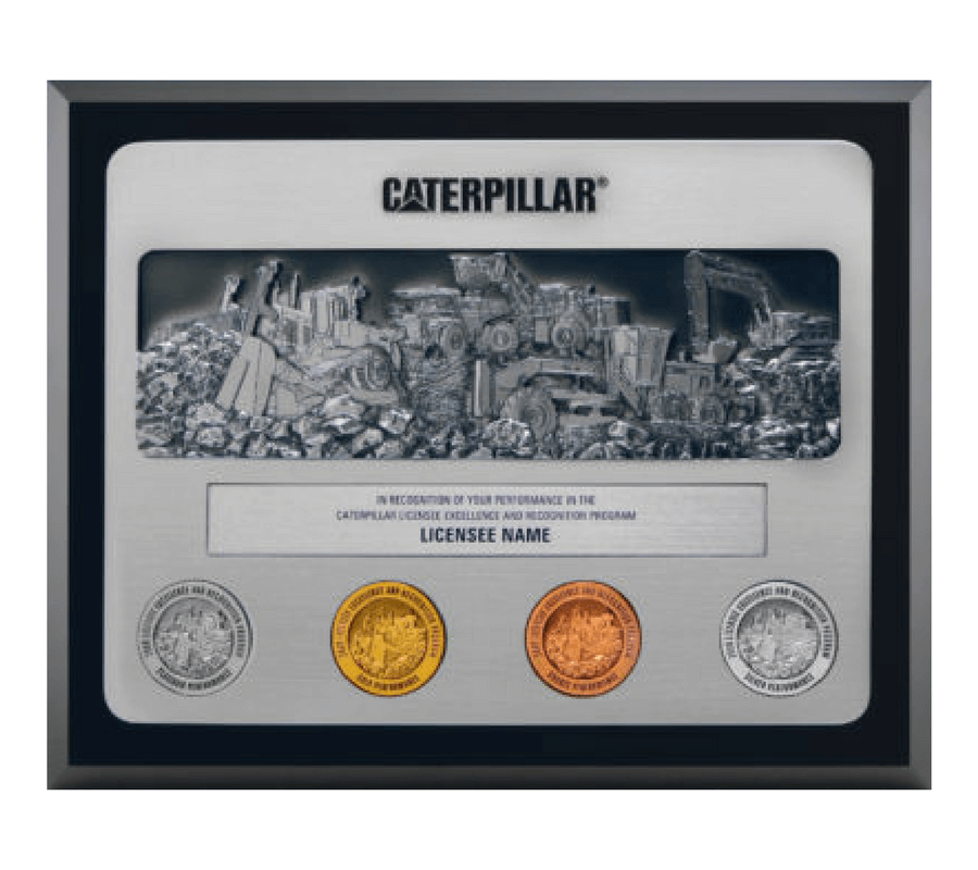 Caterpillar Licensee Excellence and Recognition Program Plaque
