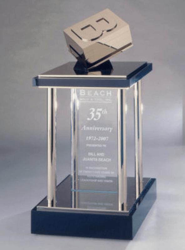 Beach Mold & Tool Anniversary Trophy