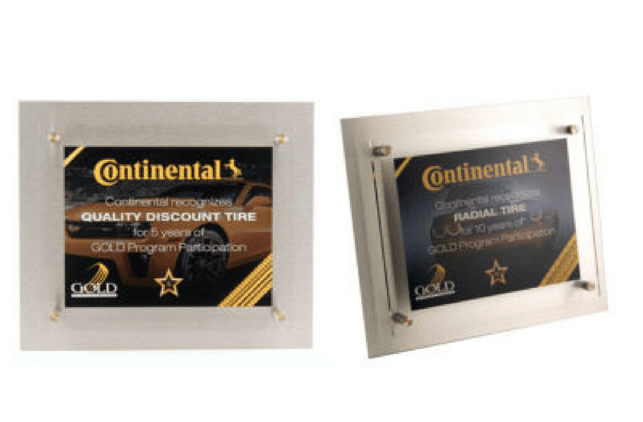 Continental Tire Years of Service Plaque