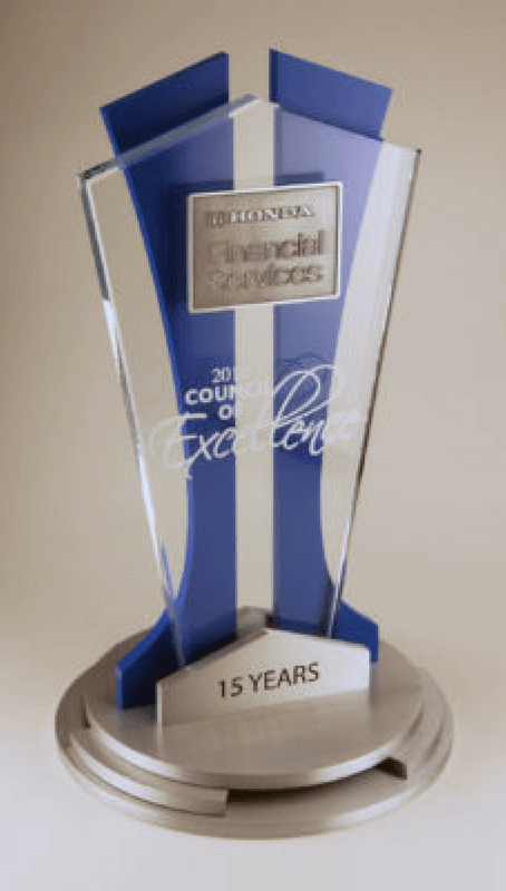 Honda Council of Excellence Years of Service Trophy
