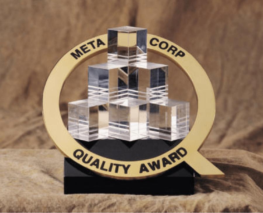 Meta Corp Quality Award Trophy