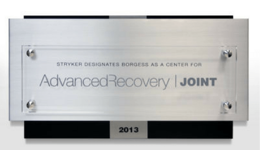 Stryker Advanced Recovery Authorization Sign