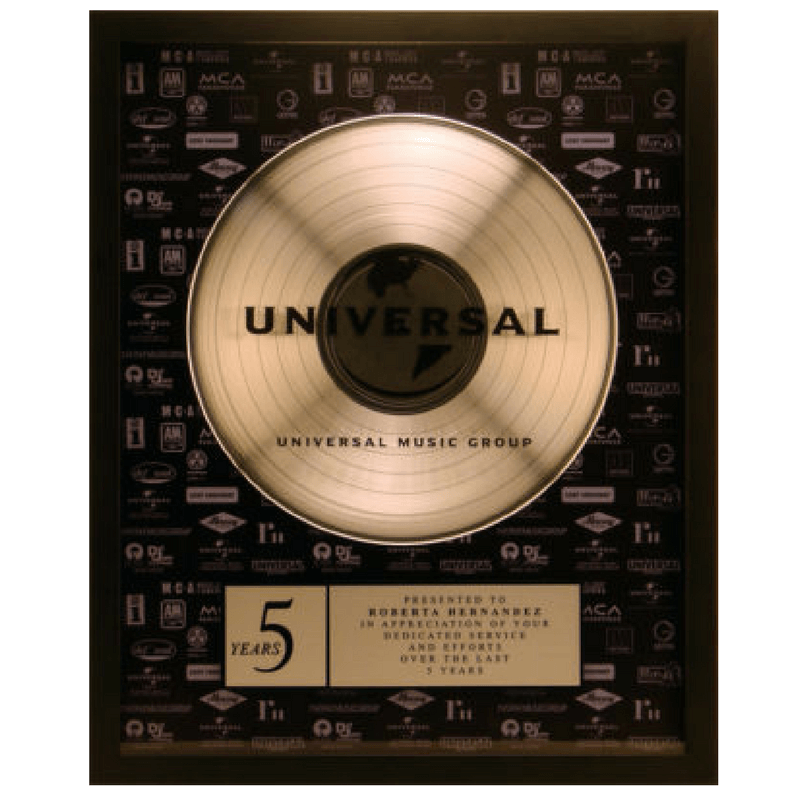 Universal Years of Service Plaque