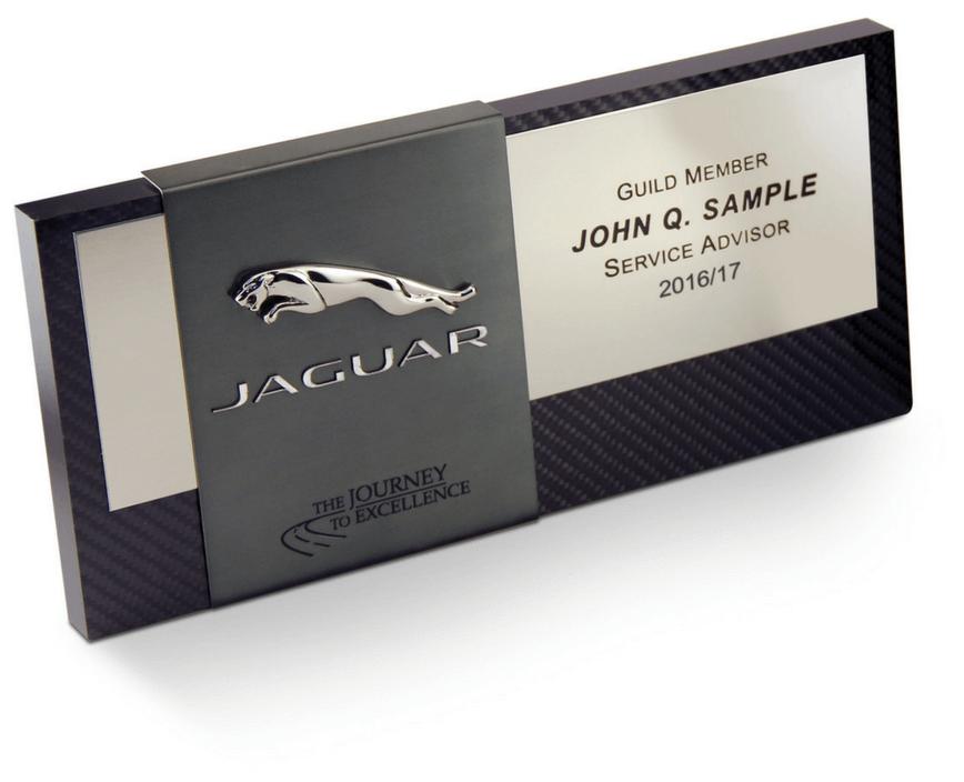 Jaguar Automotive Service Advisor Guild Plaque