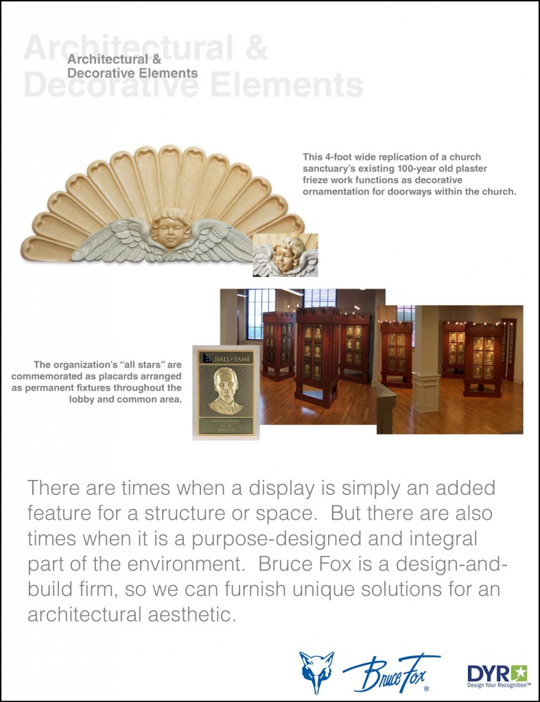our products of architectural and decorative elements in our product application flyers