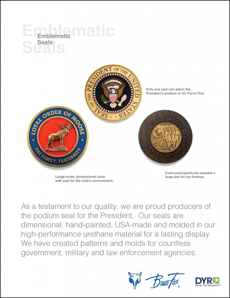 our products emblematic seals flyer