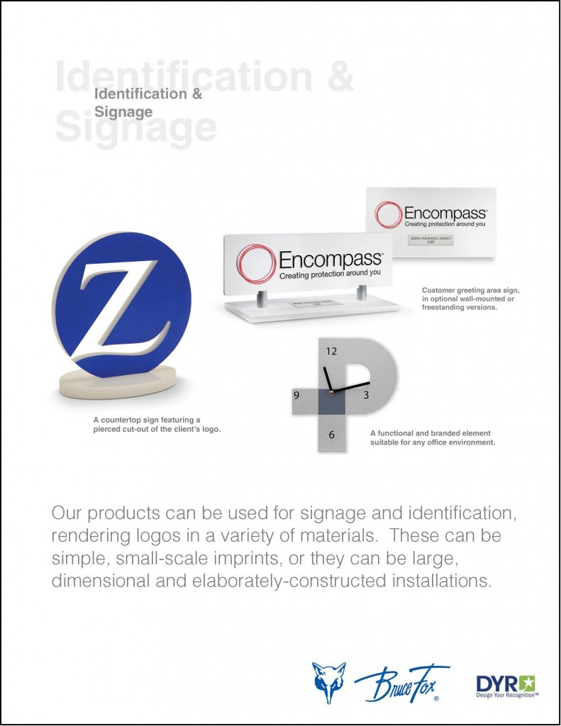 Bruce Fox Our Products of identification and signage